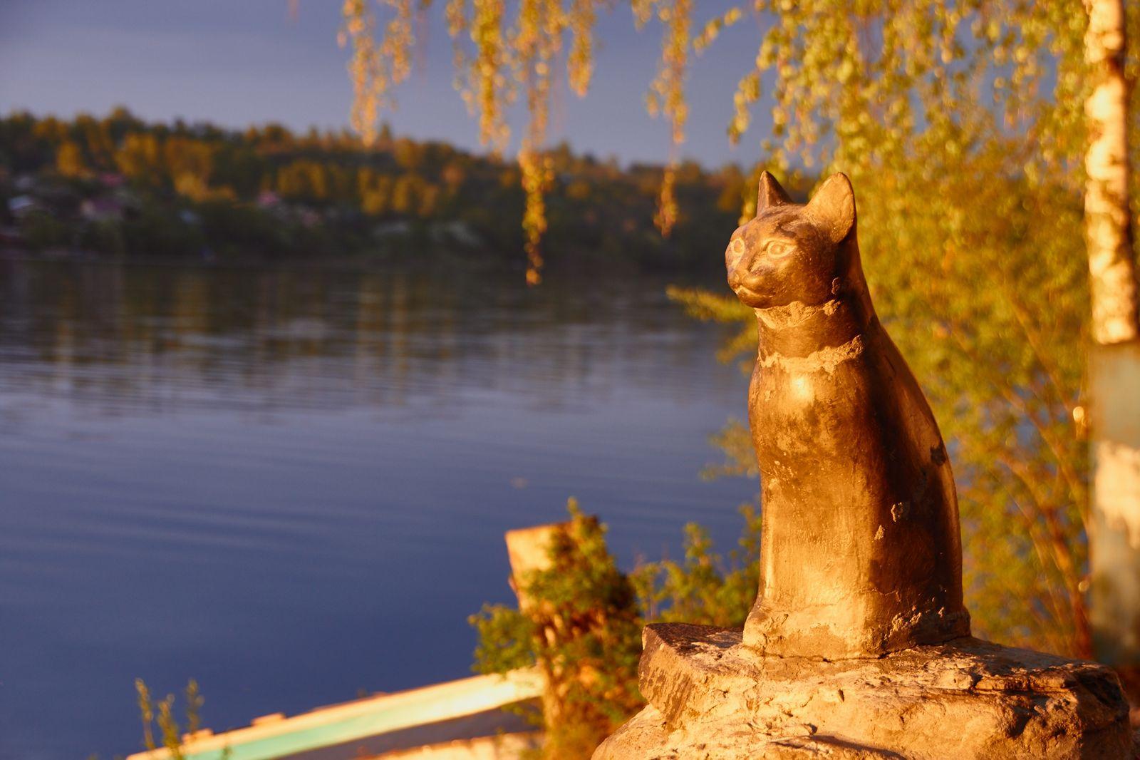 Памятник кошке Мухе